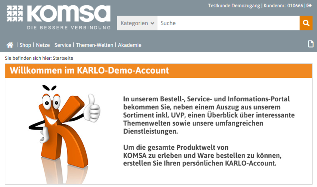 Zum KARLO-Demo-Account