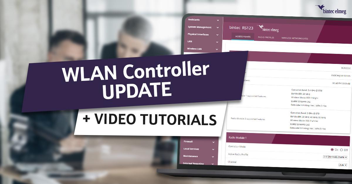 bintec WLAN Controller Update