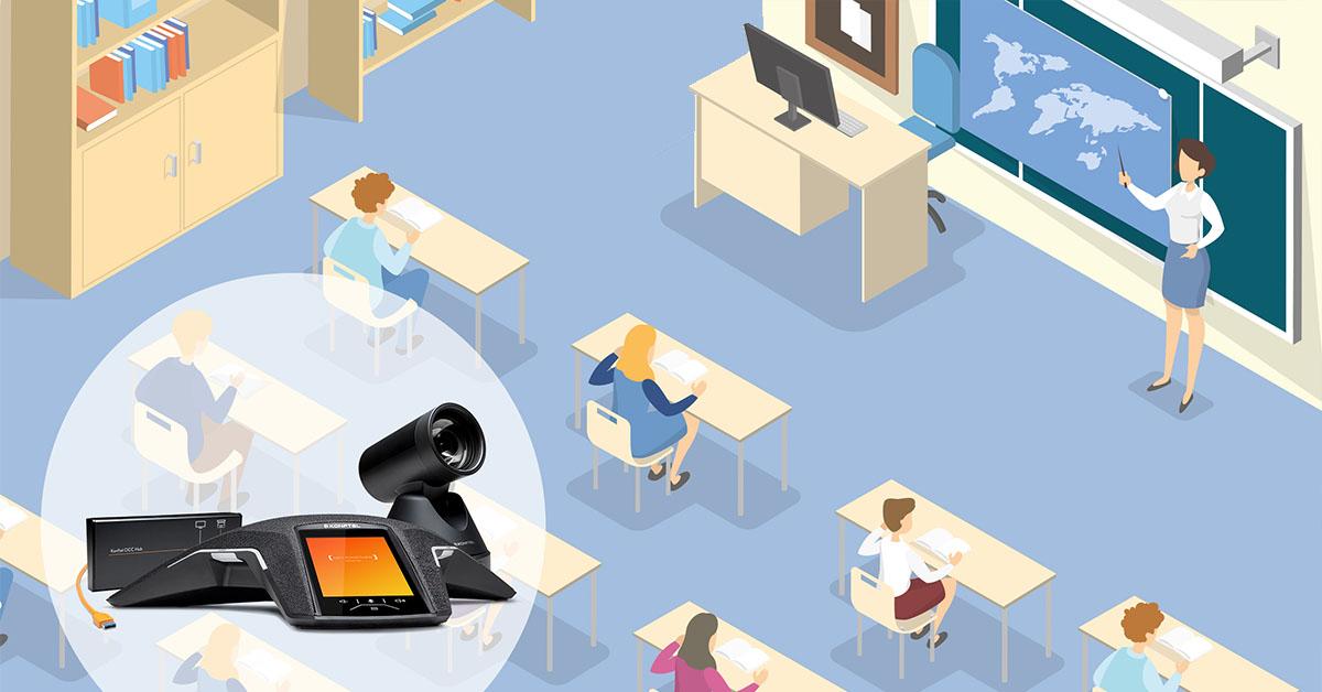 Konftel großes digitales Klassenzimmer
