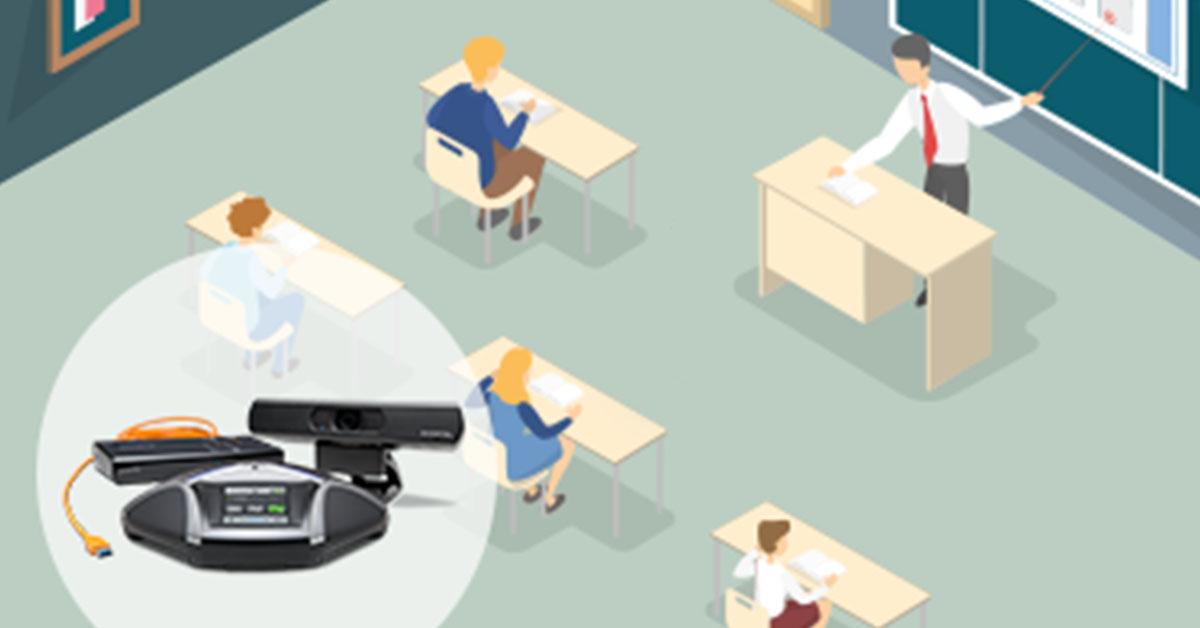 Konftel kleines digitales Klassenzimmer