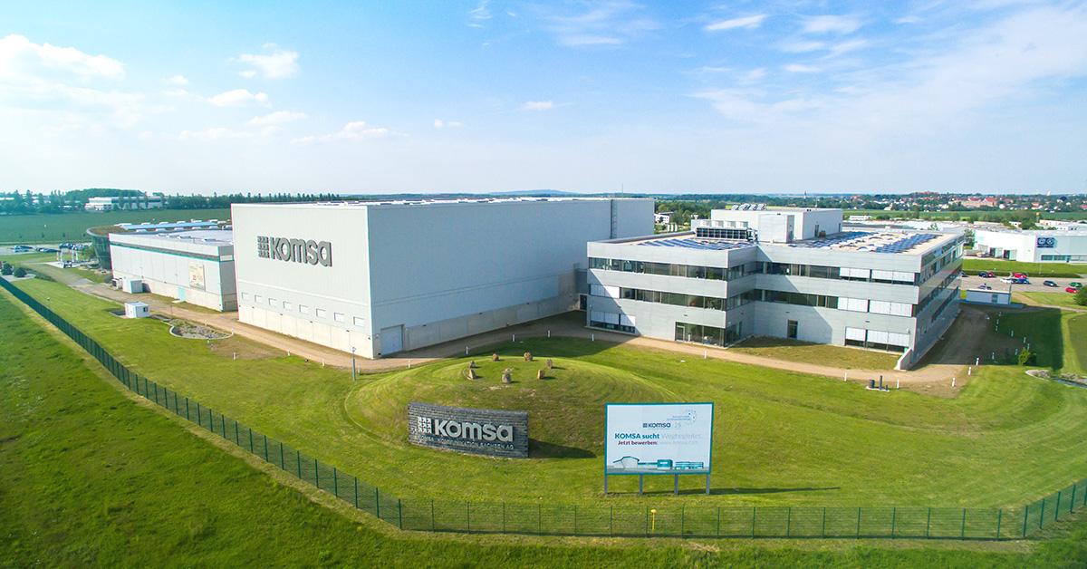 KOMSA Luftaufnahme Firmengebäude