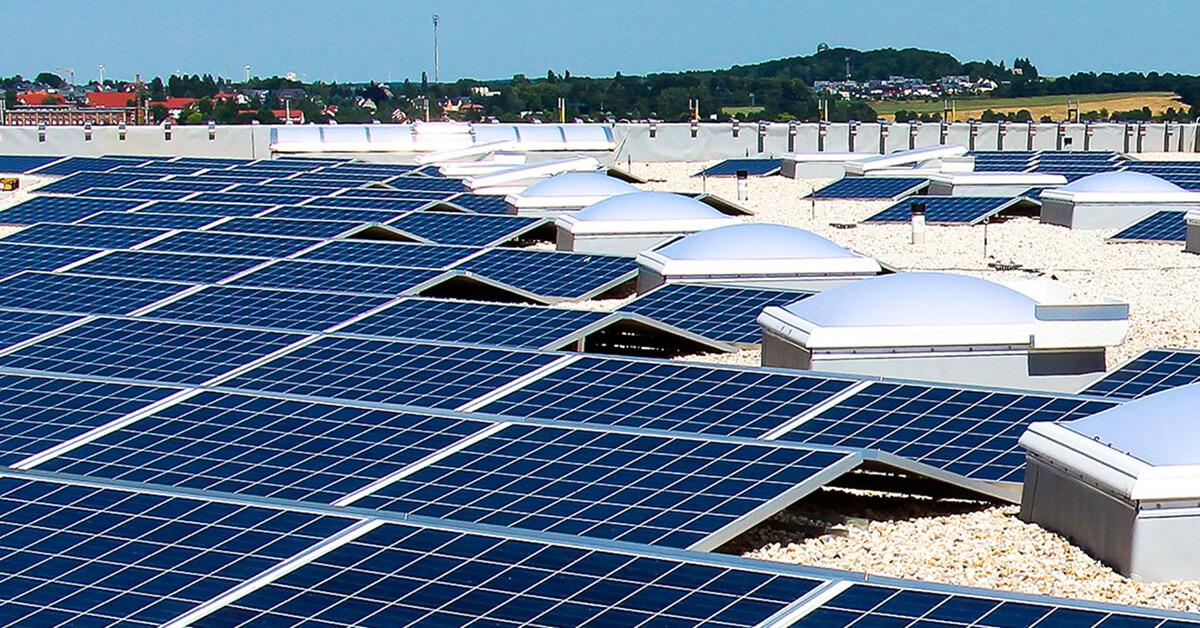 Photovoltaik KOMSA Gebäude