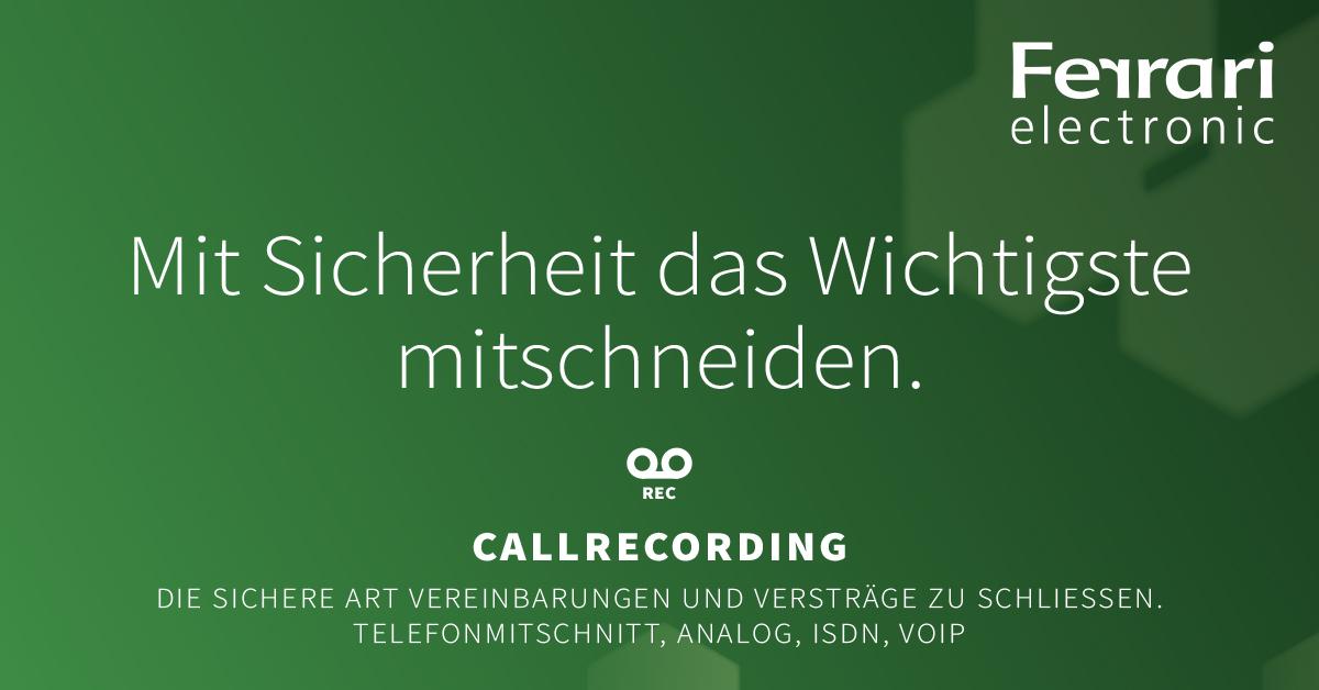 Ferrari Electronic Callrecording